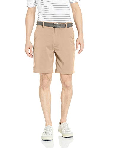 Amazon Essentials Men's Standard Classic-Fit Stretch Golf Short, Khaki, 42