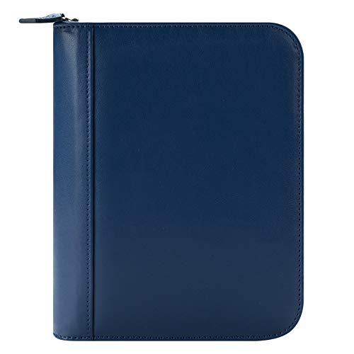 FranklinCovey Compact FC Signature Leather Zipper Binder - Blue