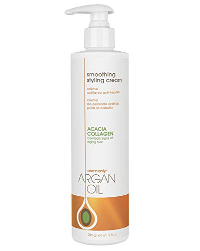 One 'n Only Argan Oil Smoothing Styling Cream, Helps Protect Hair Color, Eliminates Frizz, Hydrates, Adds Shine, Definition, and Texture for a Flexible Hold, 9.8 Ounces