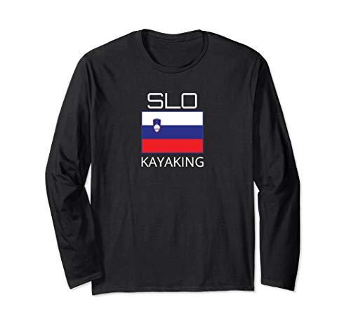 Slowenien Kajak Team Slovenian Kajaker SLO Flagge Pride Langarmshirt