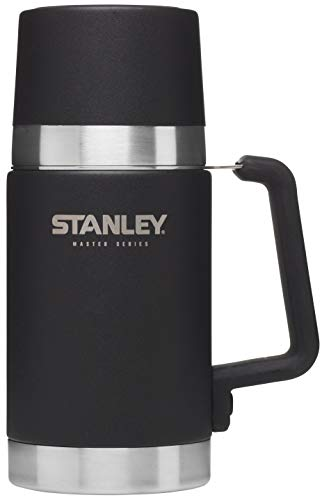 Stanley The Unbreakable Master Series Vacuum Food Jar .70L Foundry Black, Acciaio Inossidabile, Nero