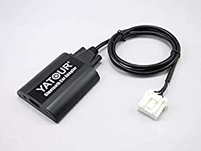 Adaptador Bluetooth para Coche Mazda, Adaptador Auxiliar Digital estéreo de Coche, Manos Libres con Carga USB y Entrada de Audio de 3,5 mm para Mazda 2 3, 5, 6, BT-50, CX-7, RX-8 (BTA-MAZ1)