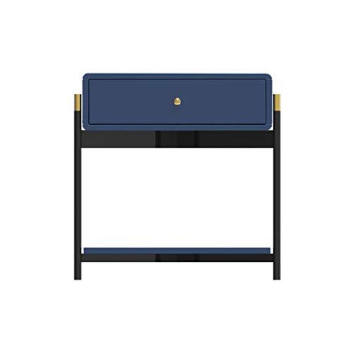 XXT Nachttisch, Schlafzimmer-Spind, Schlafzimmer-Nachttisch, Wohnzimmer-Spinde, Wohnzimmer-Sofa, Beistellschrank (Farbe: Blau)