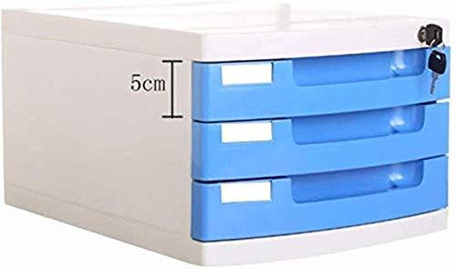 Archivadores Llaves planas archivadores cerradura 3 Oficina de Datos gaveta de almacenamiento joyero de almacenamiento - Multicolor archivos de archivador 29.5X39.4X21.8cm Inicio Muebles de Oficina (C