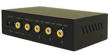 1 in 4 Out Composite Video Splitter - Rack Mount Ready