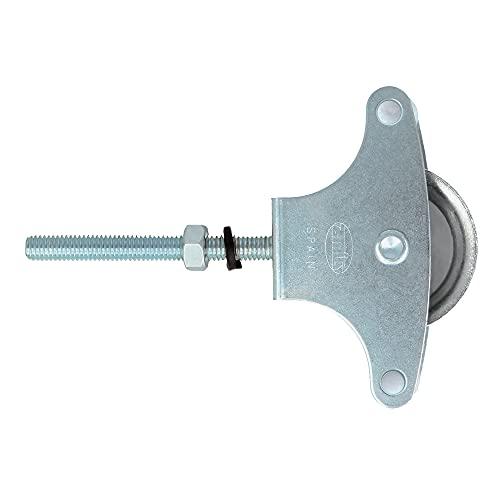 AMIG - Polea para tendedero de ropa | Fabricada en Acero | Roldana metálica de 39mm | Incluye tornillo de sujeción y guías | Polea tendedero segura | Polea tendedero exterior