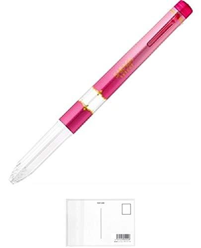 ゼブラ サラサセレクト ジェルボールペン 3色ホルダー マゼンタ + 画材屋ドットコム ポストカードA