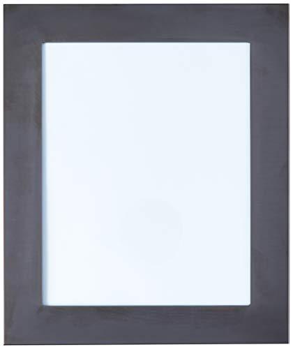 Porta Retrato Carrara Velvet Riva Preto 20x25 Inox vidro e latão