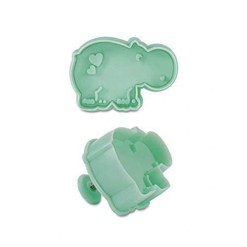Staedter Hippopotame gaufrage Emporte-pièce avec éjecteur, Turquoise, 6 cm