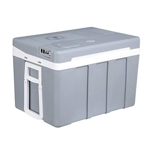 WOLTU Kühlbox, Thermo-Elektrische Mini-Kühlschrank, 50L Isolierbox Erwärmen, warmhalten oder kühlen, 12V&220V, für Auto und Camping, grau