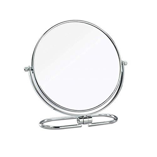 Espejo Espejo De Maquillaje Portátil De Viaje Plegable Sencillo De Doble Cara...