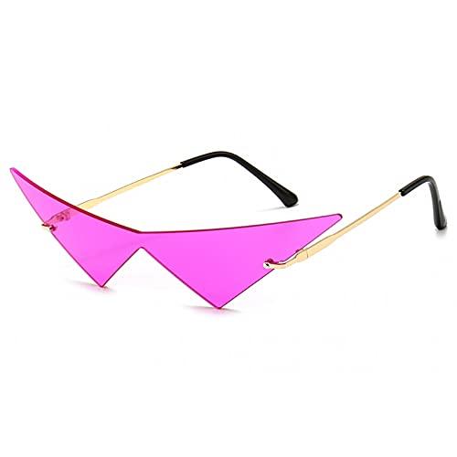 LUOXUEFEI Gafas De Sol Gafas De Sol Sin Montura Mujer Anteojos Señoras Sin Marco Violeta Verde
