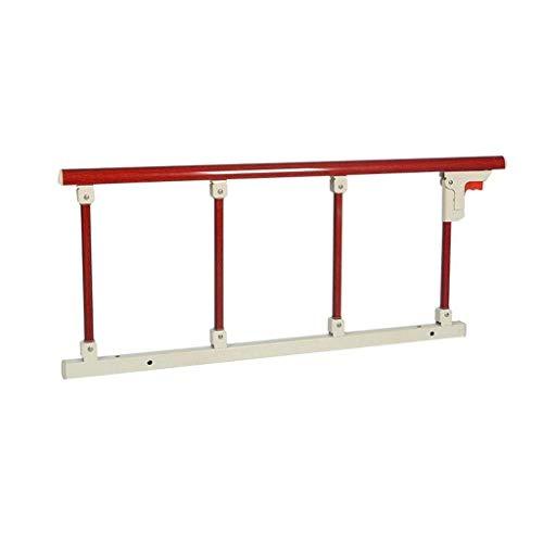 DFBGL Corrimano Laterale del letto pieghevole per protezione del letto per la sicurezza e la stabilità Degli anziani Booster Anti caduta sicuro (Colore: Rosso, dimensioni: 95x40 cm)