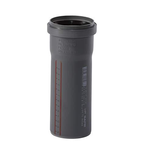 Ostendorf HTsafe HT-rör med muff DN 75 mm 150 mm, grå