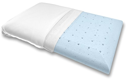 Bluewave Bedding Super Slim Gel Memory Foam Pillow for Stomach and Back Sleepers - Thin and...