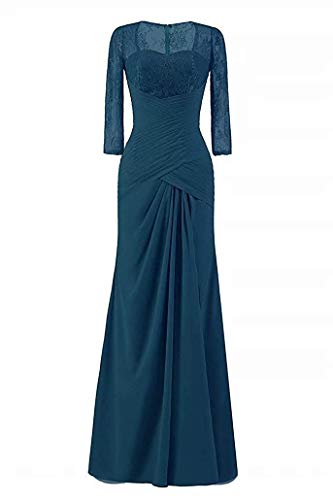 Mother of The Bride Dresses Petite Size Evening Dress for Wedding Mother Dress Plus Size Teal US12