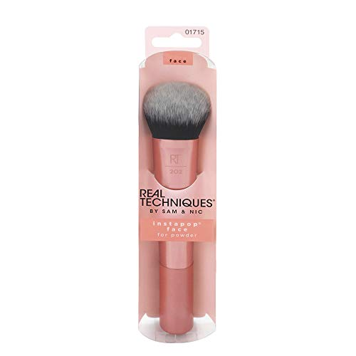 Real Techniques Instapop Face Brush - Brocha para Base de Maquillaje, Multicolor