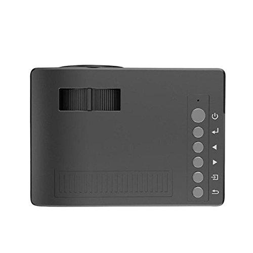 Xshuai Beamer 1080P HD LED-Ausgang MulitMedia Theatre Cinema USB TV VGA SD HDMI Mini Beamer (B)