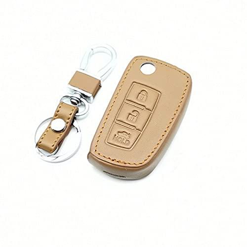 WSWJDW Funda de cuero para llave de coche, compatible con Nissan Qashqai J10 J11 X-Trail T31 T32 Kicks Tiida Pathfinder Murano Note Juke Micra, E Styles