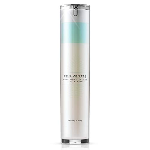 REJUVENATE Multi-Peptide Cream with Collagen Stimulators, Growth Factor Peptides, Alpha Arbutin, Rumex & Matrixyl - Ultra-Powerful Cream Reduces Fine Lines and Wrinkles, Tightens and Lifts Your Face