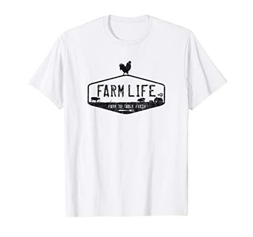 FARM LIFE T-SHIRT, LIVESTOCK DISTRESSED GRAPHIC