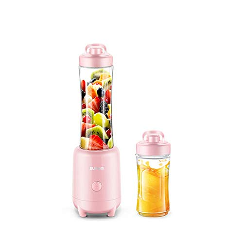 For Sale! Electric fruit juicer, portable juicer, 600 ml juicer with 4 blades, hand-held smoothie (p...