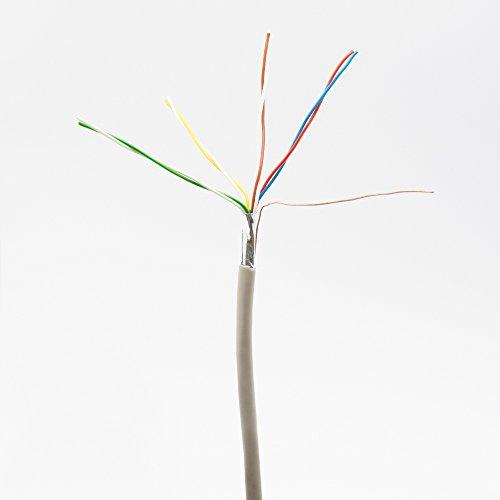 Telefonkabel 4x2x0,6mm J-Y(ST) Y 25m rund für Unterputzmontage, Fernmelde-Installationsleitung 8-adrig