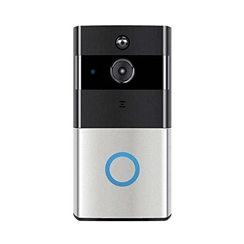 Video Wireless timbre de la puerta, Wi-Fi inteligente timbre de la puerta Chime con 720P HD 166 ° Gran Angular Opinión de la puerta de cámara de seguridad de 2 vías Talk, detección de movimiento, visi