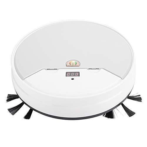 FILFEEL Sorpresa de Verano Barredora Inteligente en seco y húmedo, Robot Aspirador, Modos múltiples Pisos Duros ultrafinos para Pelo de Mascotas Polvo Flotante Uso doméstico(White)