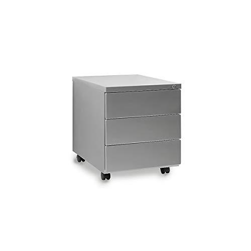 Rollcontainer Amanda | HxBxT 480 x 390 x 550 mm | Silber | Certeo
