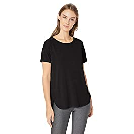 Amazon Essentials Women's Patterned Studio Relaxed-fit Crewneck T-Shirt