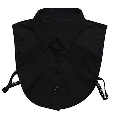 feeilty Stilvolle abnehmbare halbe Hemd-halbe Bluse mit umstrittenschtem Blumenkragen