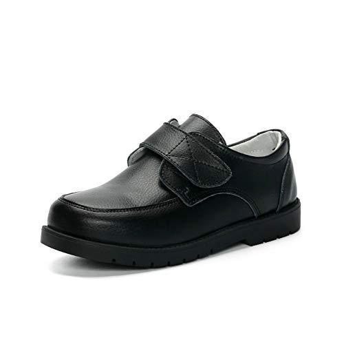 ALPHELIGANCE Kids Boys Dress Oxford Shoes(9.5 M US Toddler, Loafer Black)