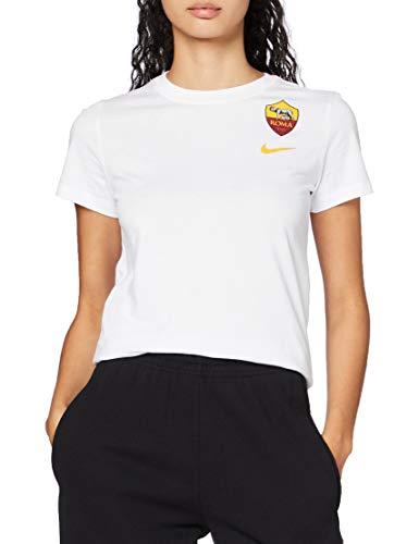 Nike Damen T-Shirt Roma W NK Tee Evergreen Crst, White, M, AJ7714