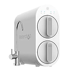 Waterdrop Reverse Osmosis Water Filtration System, Tankless, 400 GPD Fast Flow, Reduces TDS, 1:1 Pure to Drain, FCC Listed, USA Tech, Brushed Nickel Based Faucet, WD-G2-W, White