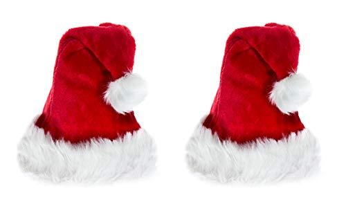 2 er Set Baby Kinder Weihnachtsmütze Nikolausmütze Rot Fellrand Ca 1-2 Jahre