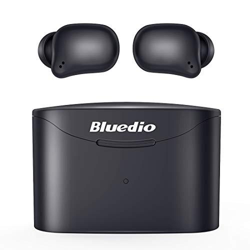 [Bluetooth5.0 最新バージョンインスタント接続] BluetoothイヤホンBluedio T-elf2ワイヤレスイヤホン軽量充電ホーン直径57mm独自テクノロジーの適用スマートタッチコントロール左右分離型内蔵マイクハンズフリー通話技術的に承認されたiPhone / iPad/Android対応(ブラック)