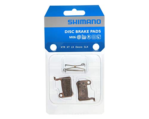 SHIMANO M06 Almohadillas de Freno de Disco sinterizadas metálicas Cycling Gear One Color