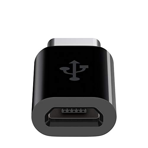 Belkin F2CU058btBLK Micro-USB Female to USB-C Male Adapter (USB-IF certified) - Black