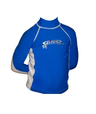 Tilos Kids Long Sleeve UV Protection Rash Guard for Surfing, Snorkeling, Swimming, pink/white, 12