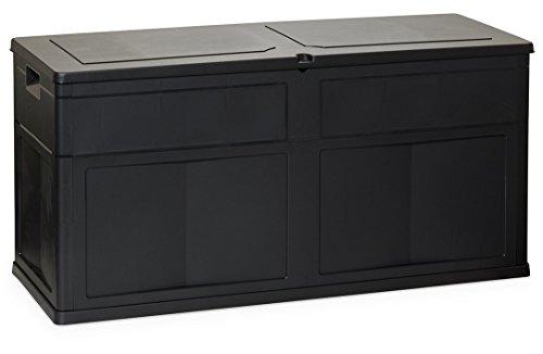 PEBSHOP Coffre Coffre L119 x P46 x H60 cm. – Lt. 320. Noir