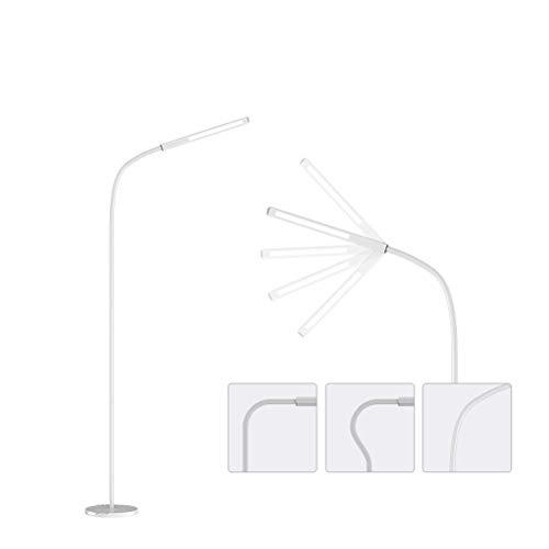 HGFMY Lampara pie LED Regulable, Lampara Salon Blanca, Lámpara de pie Cuello de Cisne, Lampara pie Salon Bajo Consumo, per Salón Dormitorio Oficina