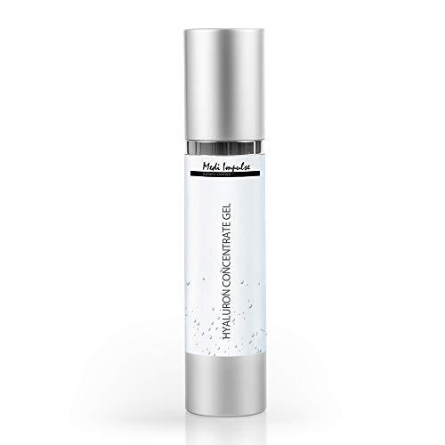 Medi-Impulse Premium Hyaluronsäure-Konzentrat Gel [50 ml] - Antifalten Konzentrat gegen Falten - Für Gesicht, Augenpartie, Dekolleté - Hyaluron Creme für Männer & Frauen