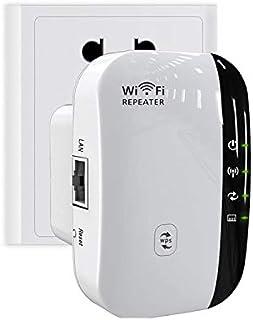 Amplificador de Señal WiFi, Repetidor de Wifi, 300Mbps Wifi Extender Adaptador, 360 °Cobertura Completa,Tipo Plug and Pla...