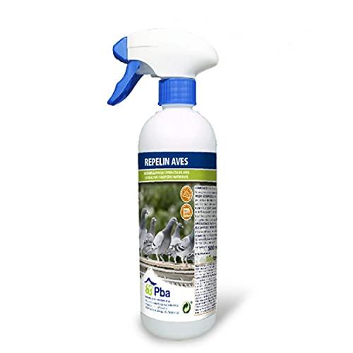 Repelin Aves Ahuyentador de Palomas, Cuervos, Gaviotas, Estorninos, Golondrinas y Murciélagos, Spray 500 ml