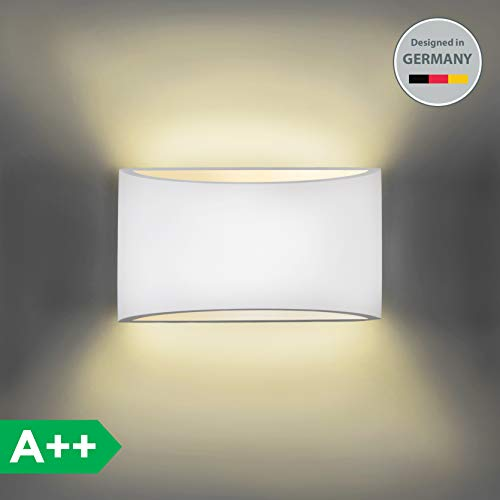 Luz de pared I Lámpara de pared I Lámpara de yeso I LED Aplique pared para pasillo I Moderna I Salon I Dormitorio I Blanco Calido I Concina Lampara de Decoracion I G9 I 230V I
