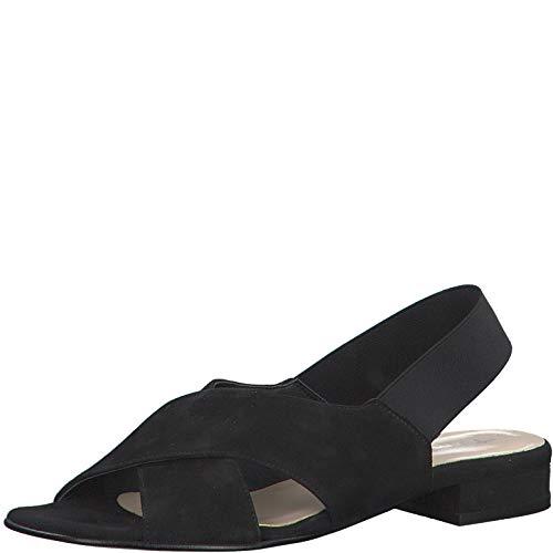 Tamaris Mujer Sandalias de Vestir 28017-34, señora Sandalia tacón, Sandalias,Zapatos del Verano,cómodo y Planas,Black,39 EU / 5.5 UK