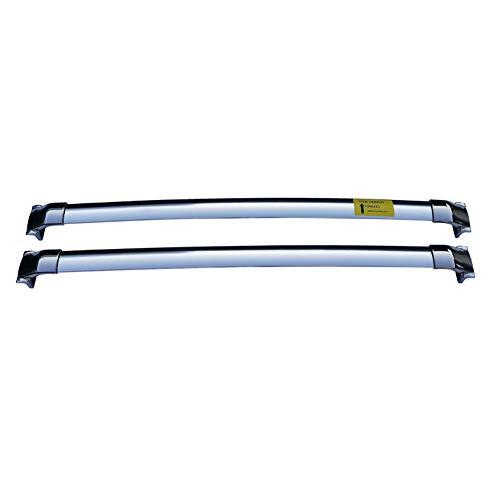 YIJIAREN Acero Inoxidable Rieles Cruzados para Mitsubishi Outlander/ASX/Pajero/Eclipse Cross Personalizado Barra Transversal Portaequipajes Rack Rack De Techo 2 Piezas