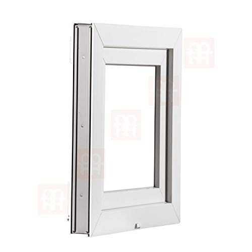 Kunststofffenster   150x120 cm (1500x1200 mm)   weiß   Zweiflügelige ohne Pfosten   rechts