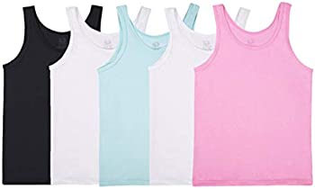 5-Pack Fruit of the Loom Big Girls' Assorted Tank